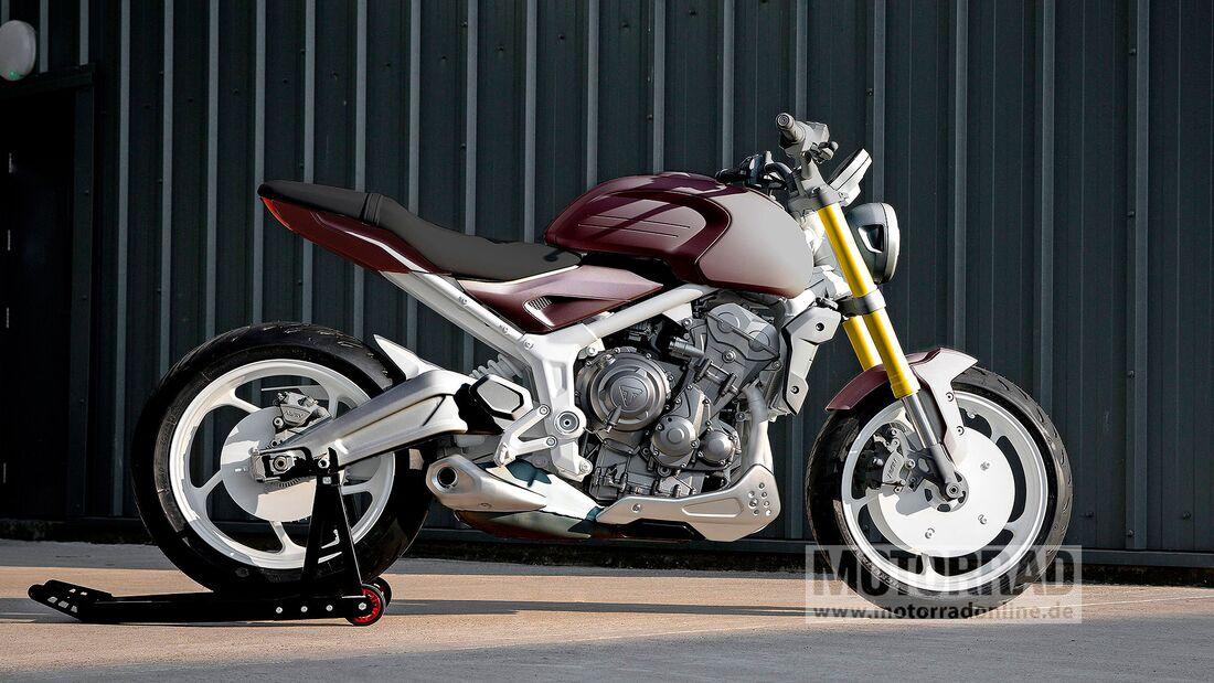 08/2020, Triumph Trident Design Prototyp farbig
