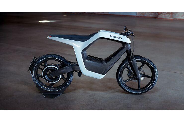 Novus E-Bike: Luftiges Elektromotorrad mit 18 kW Leistung