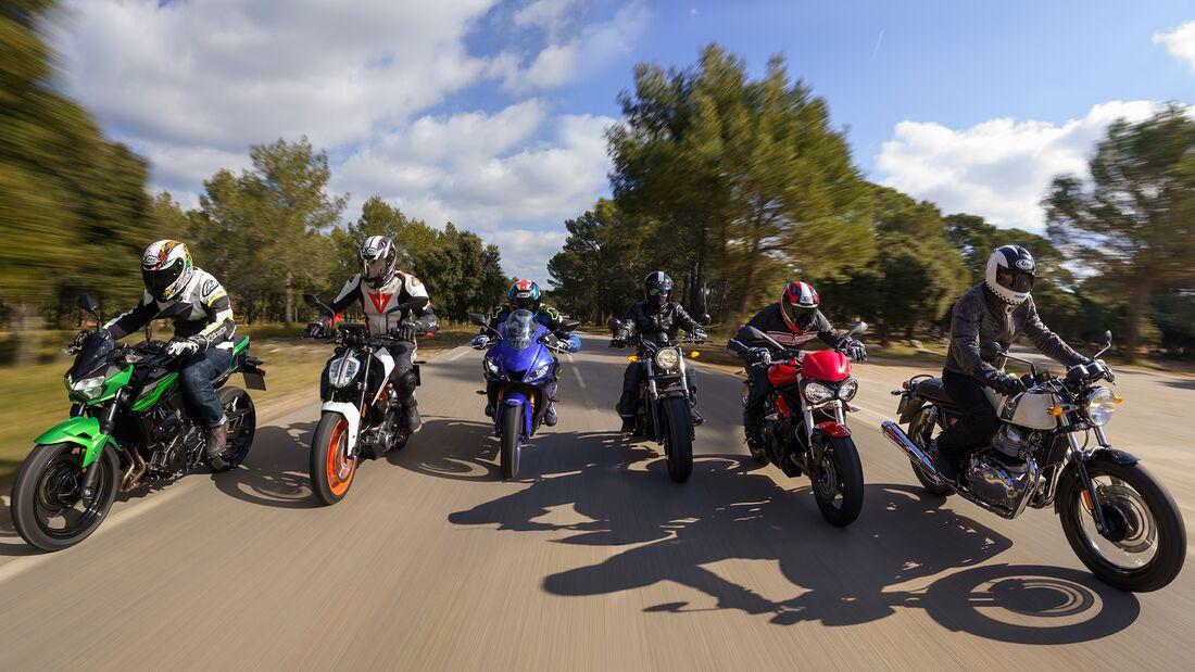 48-PS-Motorräder im Vergleichstest (2019).