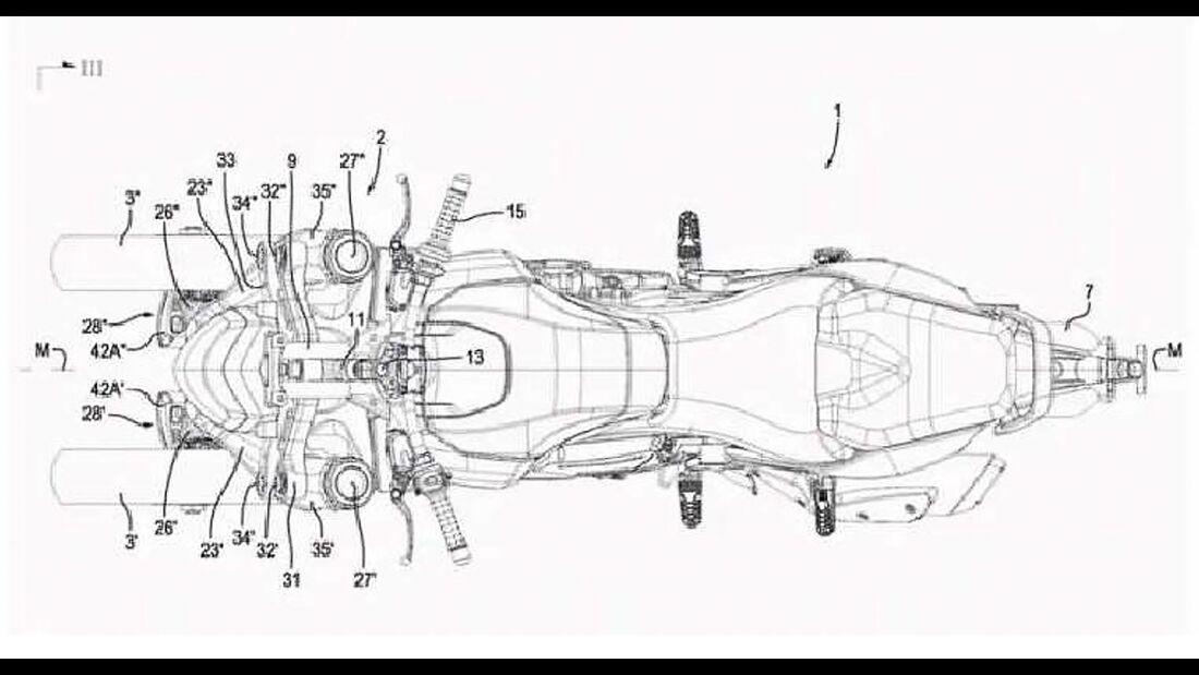 Aprilia Patentzeichnungen Dreirad