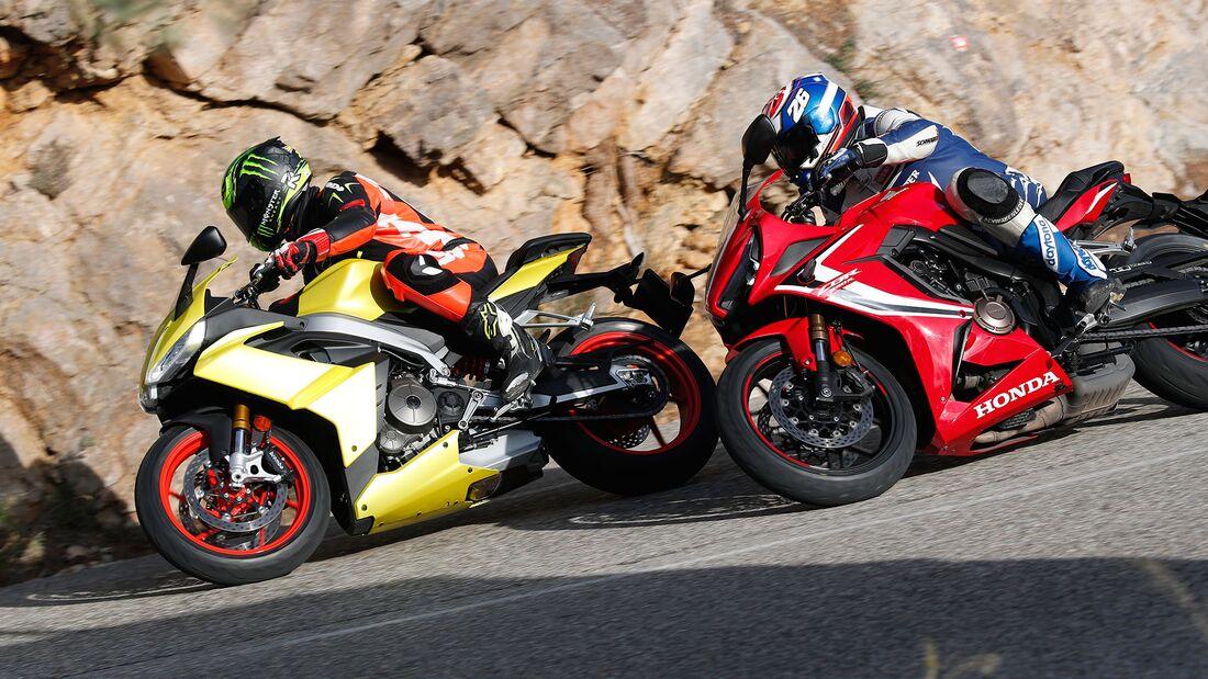 Aprilia RS 660 Honda CBR 650 R Vergleichstest