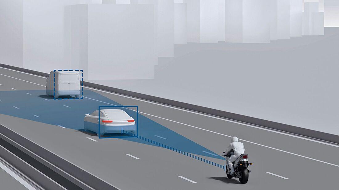 Assistenzsysteme Motorrad Kollisionswarner