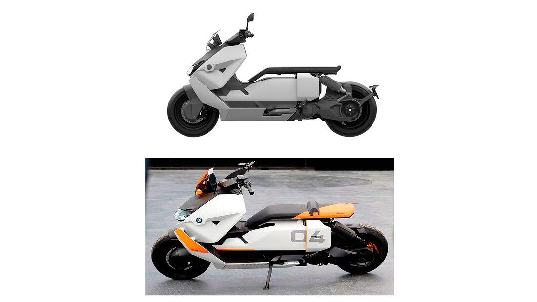 BMW CE 04 Elektroroller Patentzeichnung und Konzept