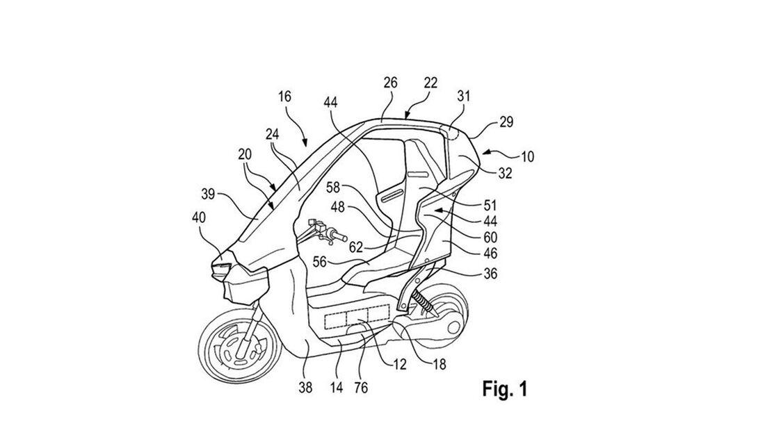 BMW-Patent Kabinenroller Elektroroller mit Dach