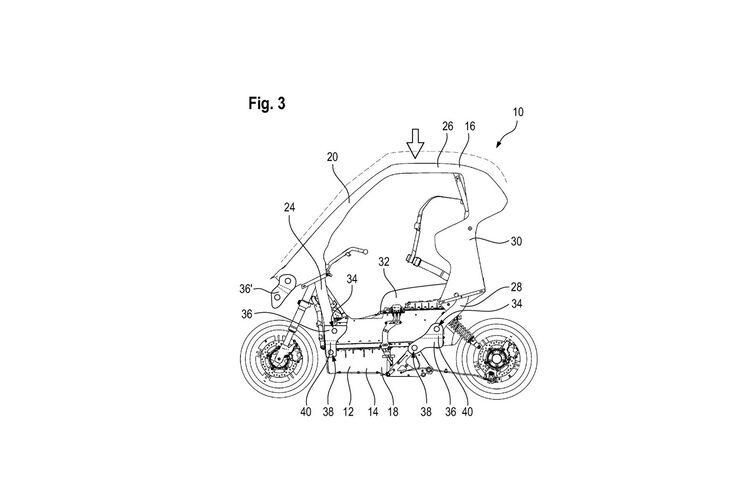 BMW-Patent für neues Hybridfahrzeug: Kabinenroller und Freizeit-Bike in einem