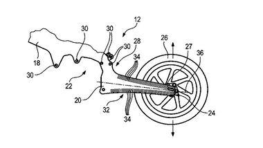 BMW Patent Rahmen-Schwinge Carbon