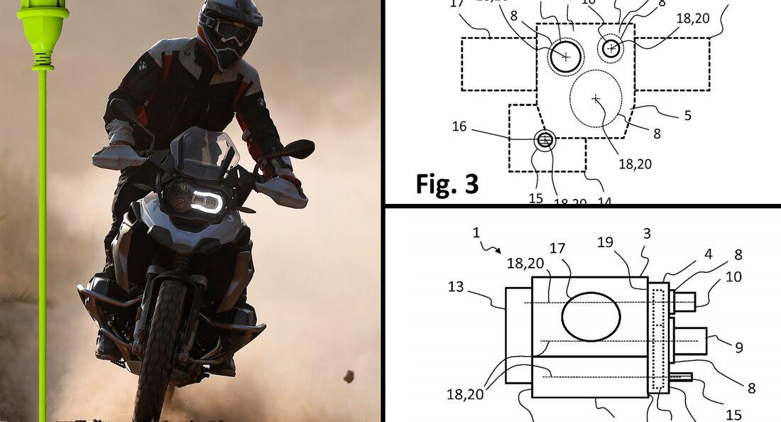 BMW-Patente für einen Hybrid-Motor.