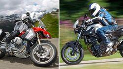 BMW R 1200 GS und BMW F 800 R.