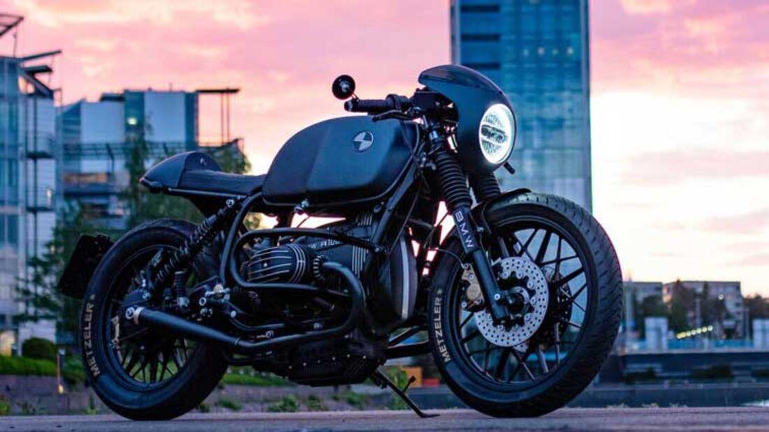 BMW R100/7 Custombike Dark Shadow Garage