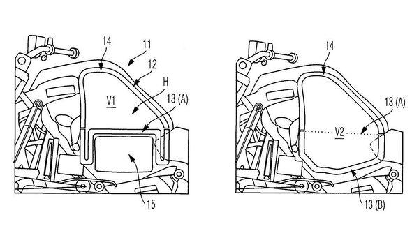 BMW variabler Tank Hybrid -Antrieb Patentzeichnung