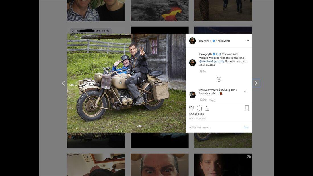 Bear Grylls Instagram