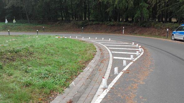 Beliebte Motorradkurve im Landkreis Lüneburg