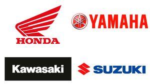 Big Four japanische Hersteller Honda Kawasaki Suzuki Yamaha