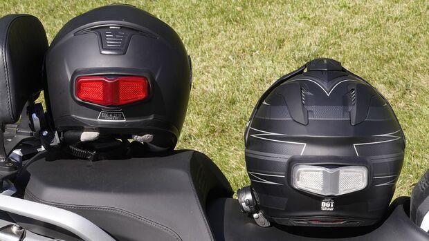 Bremsleuchte für den Helm