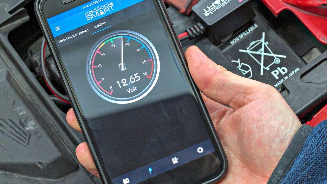 Cadillock Smart: Bluetooth-Batteriemonitor und App.