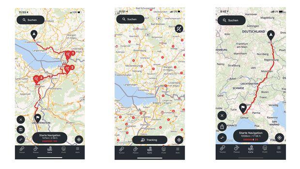 Calimoto - Navigations-App für Android und iPhone.