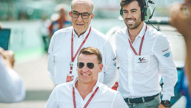Carmelo Ezpeleta, Dorna Sports CEO, Pit Beirer & Carlos Ezpeleta Dorna Sports MD
