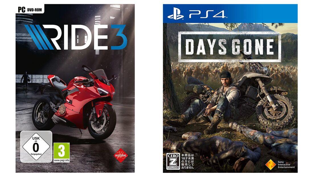 Days Gone und Ride 3.