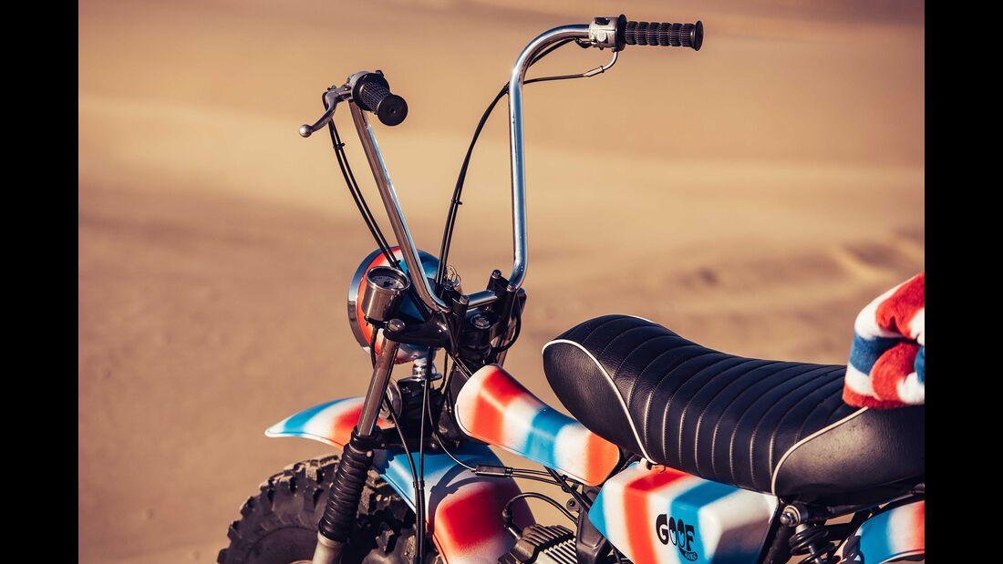 """Deus Ex Machine """"The Goof Bike"""" Suzuki RV 90."""