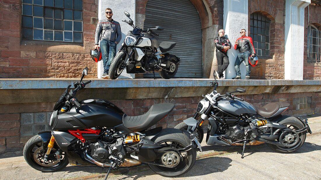Ducati Diavel 1260, Ducati Diavel 1260 S und Ducati XDiavel.