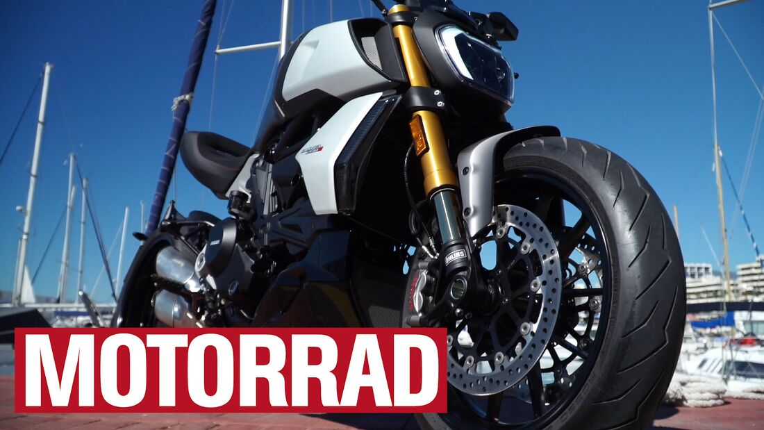 Ducati Diavel 1260 S (Video-Standbild).