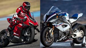 Ducati Panigale V4 Superleggera und BMW HP4 Race.