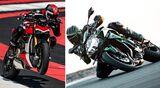 Ducati Streetfighter V4 und Kawasaki Z H2.