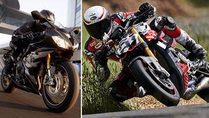 Ducati Streetfighter V4 und Triumph Daytona Moto2 765 Limited Edition.