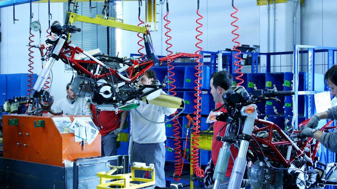 Ducati Werk Herstellung Produktion