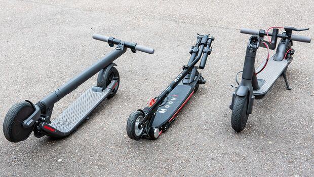 E-Scooter Elektro Tretroller Test Vergleich BMW X2 City Metz Moover Xiaomi M365 Moovi Ninebot ES2