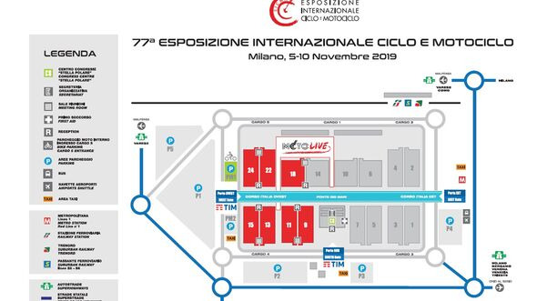 EICMA 2019 Hallenplan