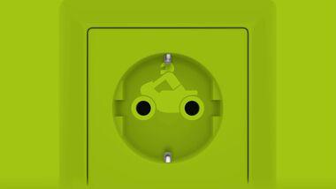Elektromotorrad Symbol Elektromobilität