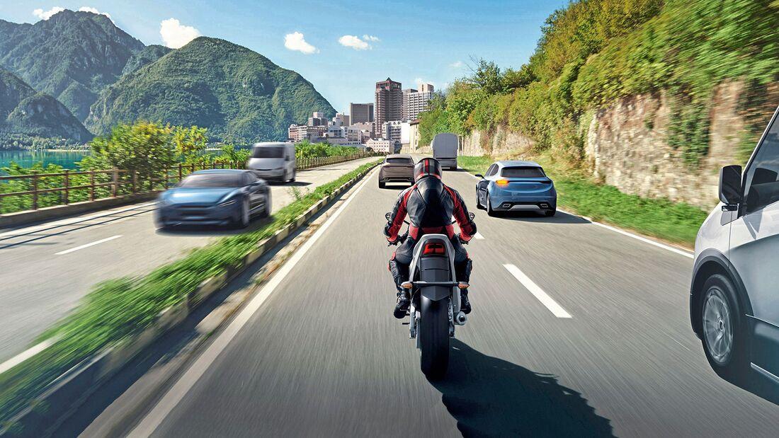 Elektronische Schutzengel für Motorradfahrer von Bosch