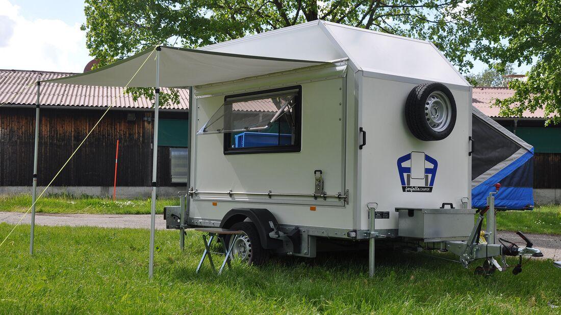 Faltcaravan Motorrad-Tranport Farfalla Camper Pure