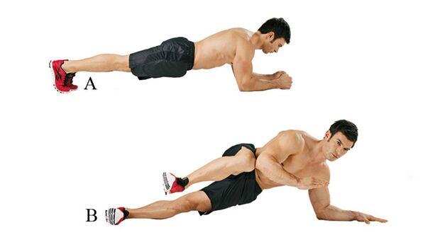 Fitnesstraining für zu Hause.