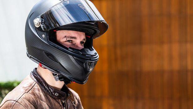 Forcite Mk1 smarter Motorradhelm Karbon