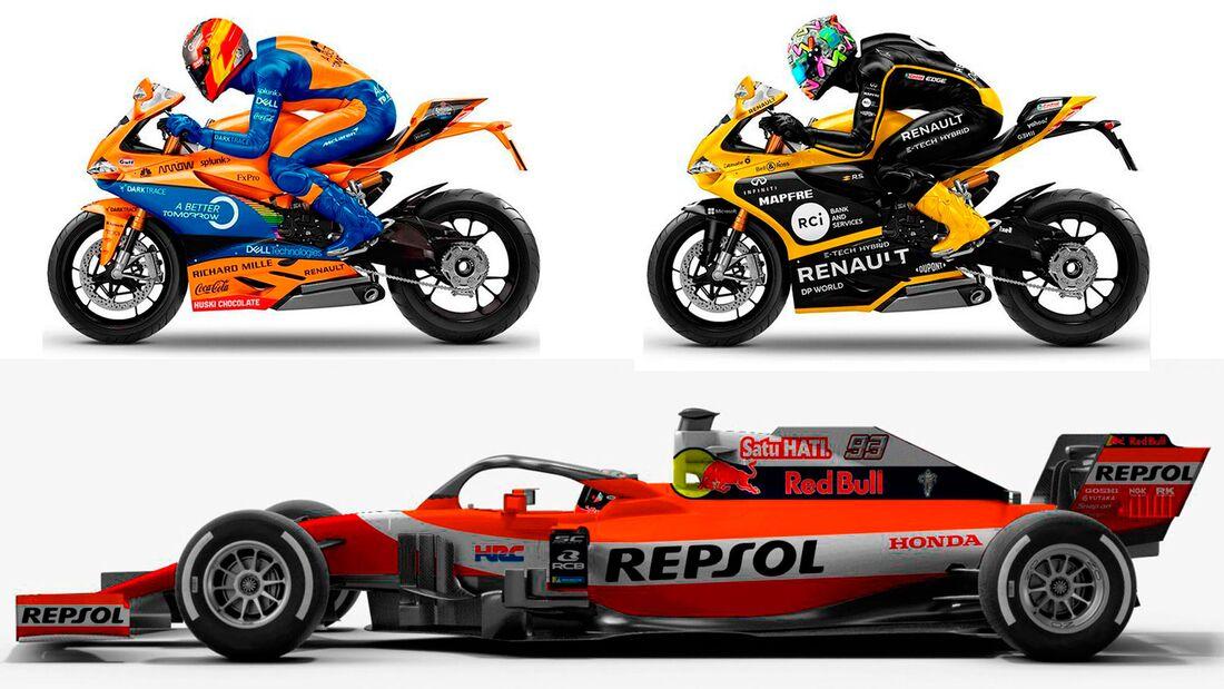 Formel 1-Teams MotoGP-Teams Teaser