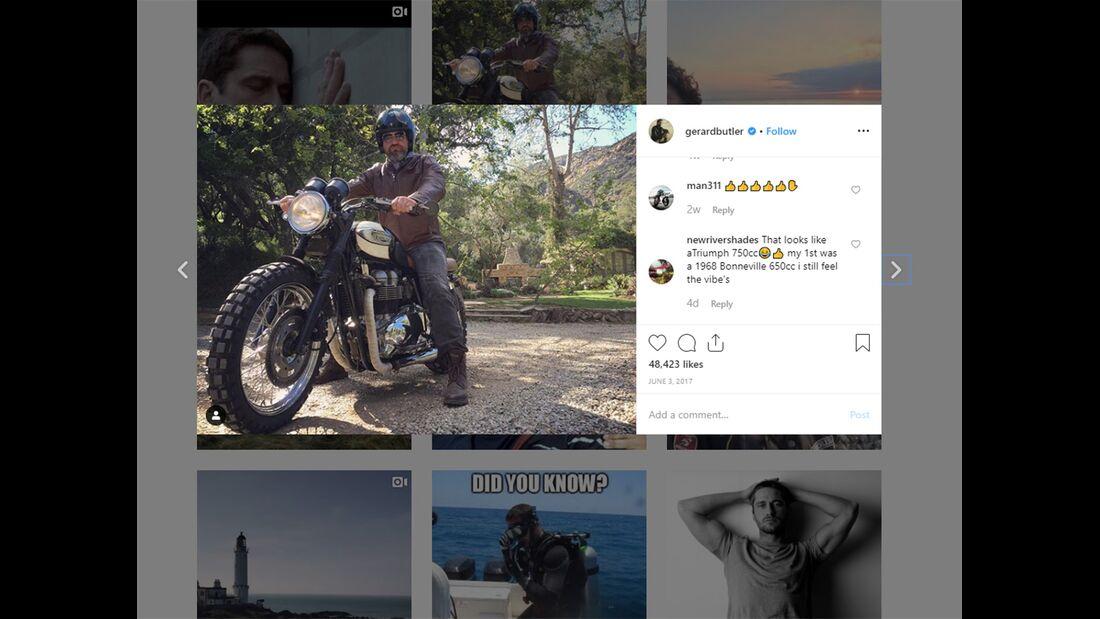 Gerard Butler Instagram