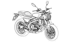 Harley-Davidson 338R Patentzeichnung