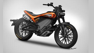 Harley-Davidson  Elektromotorrad Mittelklasse Skizze