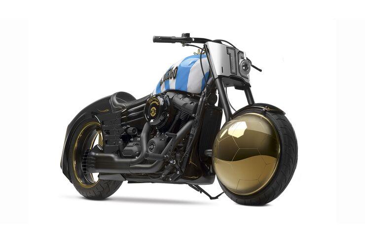 Harley-Davidson Fat Bob 'Yo Soy El Diego': Diego Maradonas Custombike von Yuri Shif
