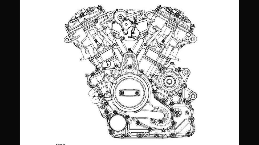Harley-Davidson Mitteklasse V-Motor Patentbilder