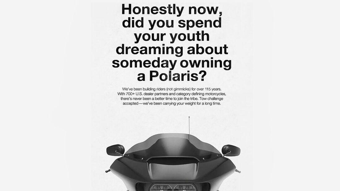 Harley-Davidson Werbung Konter Indian