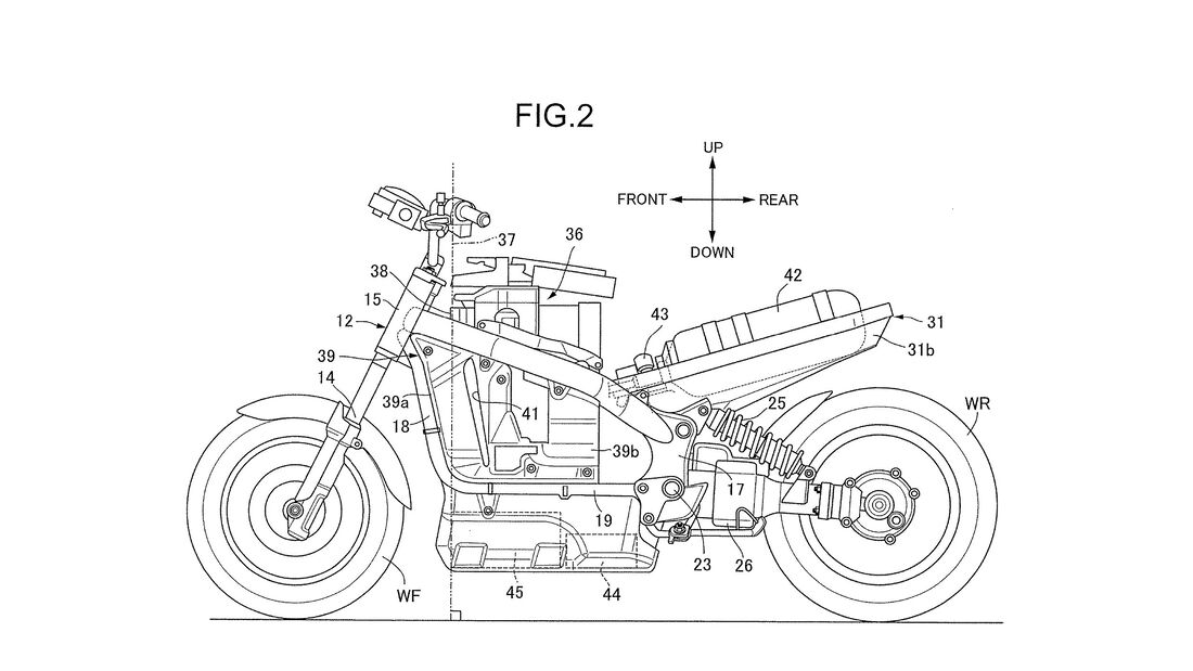 Honda Brennstoffzellenmotorrad Patent
