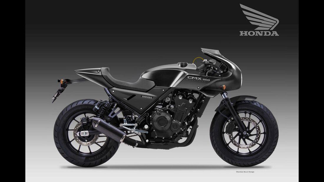 Honda CMX 500 Darkness.