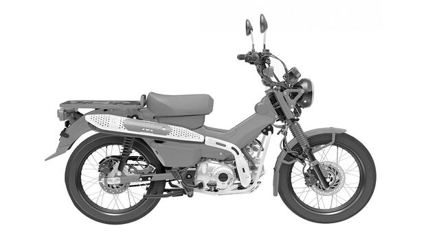 Honda CT 125 Patentbilder