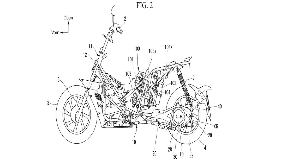 Honda Elektroroller Patent