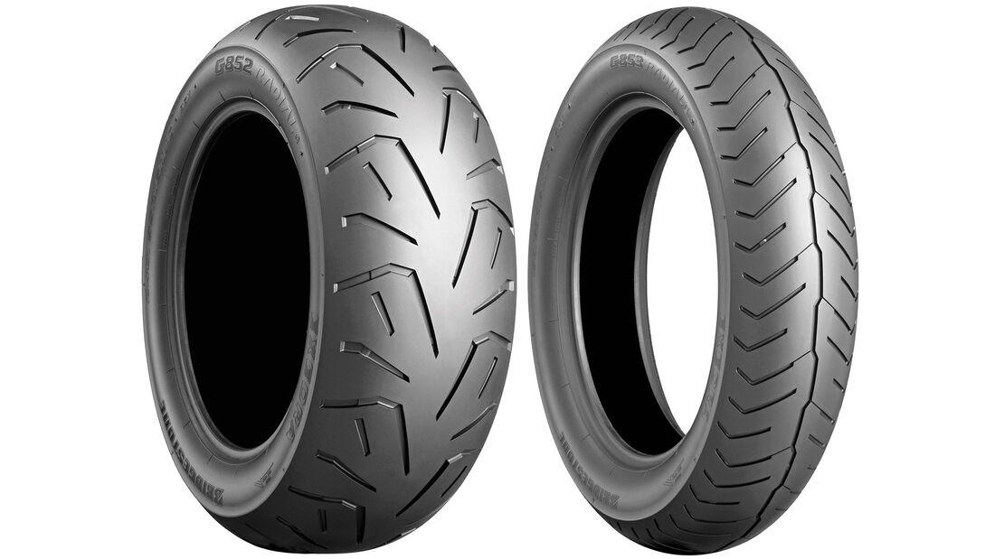 Honda Gold Wing GL 1800 Dauertest Reifen Bridgestone Exedra G 853 Front und G 852