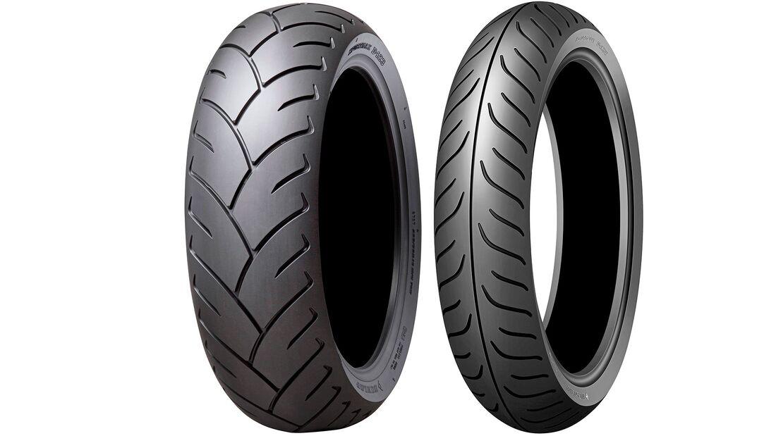 Honda Gold Wing GL 1800 Dauertest Reifen Dunlop D 423 F