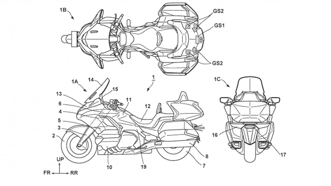 Honda Goldwing Radar Patent